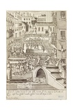 Town Games in Venice: the Bull Fighter, Kill the Cat with the Shaved Head Giclee Print by Giacomo Franco