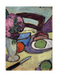 Still Life with Chair and Bouquet; Stilleben Mit Stuhl Und Blumenstrasse, 1906 Giclee Print by Alexej Von Jawlensky