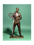 A Bronze Figure of H.R.H. the Prince of Wales, Later Edward Viii, Dressed for Tennis, C.1920S-1930S Giclee Print by Charles Sergeant Jagger