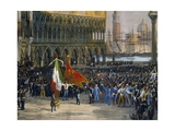 Proclamation of Republic of San Marco, March 22, 1848 Giclee Print by Lattanzio Querena