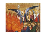 Angels and Saints, Detail from Coronation of Virgin, 1454 Giclee Print by Enguerrand Quarton