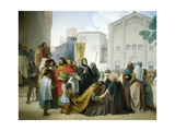 Reconciliation of Otto II with His Mother Adelaide of Burgundy, 1858 Giclee Print by Francesco Hayez