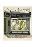 Diving Shop Giclee Print by Eric Ravilious