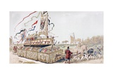 A Royal Barge Being Pulled on a Wagon by Horses to a Canal in the 16th Century, 1886 Giclee Print by Armand Jean Heins