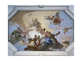 Glory Among Virtues: Fame, Glory, Justice, Fortitude, Temperance and Prudence Giclee Print by Giambattista Tiepolo