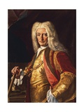 Portrait of Count Aloys Thomas Raimund Von Harrach, Viceroy of Naples, Ca 1730 Giclée-tryk af Francesco Solimena