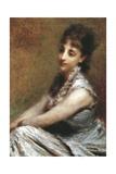 Portrait of Countess Arrivabene Marta Bussi Rosnati, 1880 Giclee Print by Daniele Ranzoni