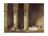 Breakfast in Egyptian Temple, from Empress Eugenie of France's Journey in Egypt Giclee Print by Charles Theodore Frere