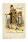 Little Nell and Her Grandfather, from the Old Curiosity Shop Giclee Print by Charles Dickens
