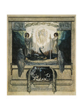 And from High Up I Saw Two Angels Come Who Descended with Two Flaming Swords, Purgatory Giclee Print by Dante Alighieri