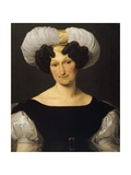 Portrait of Frances Majnoni D'Intignano Dell'Acquafredda Giclee Print by Francesco Hayez