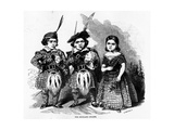The Highland Dwarfs, Published in 'The Illustrated London News', May 30 1846 Giclee Print by Ebenezer Landells