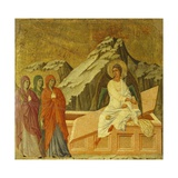 The Three Marys at the Tomb, Detail of Tile from Episodes from Christ's Passion and Resurrection Giclee Print by Duccio Di buoninsegna