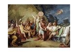 Dispute Between Achilles and Agamemnon, Fulcrum of Cycle with Stories of Iliad Giclee Print by Felice Giani