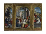 Triptych of the Nativity, the Adoration of the Magi and Jesus Christ's Tomb, 1523 Giclee Print by Defendente Ferrari