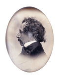 Profile Portrait of a Gentleman, Identified as Charles Dickens, C.1853-1855 Giclee Print by John Jabez Edwin Paisley Mayall