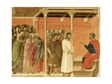 Christ before Pilate, Detail of Tile from Episodes from Christ's Passion and Resurrection Giclee Print by Duccio Di buoninsegna