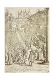 Exhibition of Tapestries and Pieces of Gold and Silver in St Mark's Square, 1610 Giclee Print by Giacomo Franco