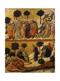 Kiss of Judas, and Prayer on Mount of Olives Giclee Print by Duccio Di buoninsegna