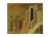 Christ Appearing on the Road to Emmaus Giclee Print by Duccio Di buoninsegna