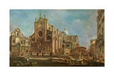 Campo Dei Santi Giovanni E Paolo and the Scuola Grande Di San Marco, Venice Giclee Print by Francesco Guardi