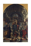 Madonna and Child Enthroned with Angels and Saints, 1498 Giclee Print by Bartolomeo Montagna