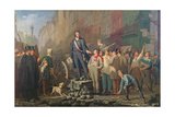Alphonse Baudin on the Barricade of Faubourg Saint-Antoine, 3rd December 1851 Giclee Print by Ernest Louis Pichio