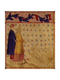 Dante, Virgil, and Count Ugolino, Scene from Canto XXXIII from Divine Comedy Giclee Print by Dante Alighieri