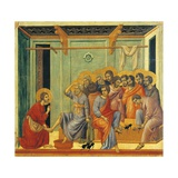 The Washing of the Feet, Detail of Tile from Episodes from Christ's Passion and Resurrection Giclée-tryk af Duccio Di buoninsegna