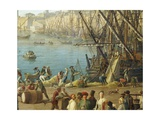 Unloading Ship, Detail from Port of Marseille, 1754 Giclee Print by Claude-Joseph Vernet