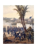 Battle of Veracruz, General Scott's Troops Attacking and Capturing City, 1847, Mexican-American War Giclee Print by Carl Nebel