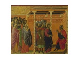 Pontius Pilate's Second Interrogation of Christ Giclee Print by Duccio Di buoninsegna