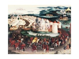 Henry VIII, King of England, Entering to Field of Cloth of Gold to Meet Francis I Giclee Print by Friedrich Bouterwek