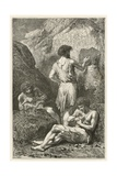 Les Precurseurs De Raphael Et De Michel-Ange Giclee Print by Emile Antoine Bayard
