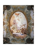 Allegory of Merit Accompanied by Nobility and Virtue Giclee Print by Giambattista Tiepolo