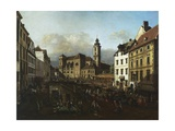 Freyung Square from the South-East, 1758-1761, Vienna, Austria Giclee Print by Bernardo Bellotto