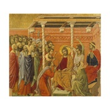 Crowning with Thorns, Detail of Tile from Episodes from Christ's Passion and Resurrection Giclee Print by Duccio Di buoninsegna