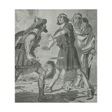 Croesus, King of Lydia, Is Saved from Death by the Voice of His Deaf and Dumb Son Giclee Print by Charles Edmund Brock