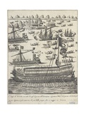 The Doge of Venice on the Bucintoro Following the Other Boats on Ascension Day, 1610 Giclee Print by Giacomo Franco