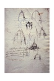 Studies for Lantern of Cathedral, from Codex Trivulzianus, 1478-1490 Giclee Print by  Leonardo da Vinci