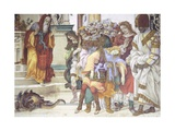 St Philip the Apostle in Front of the Temple of Mars in Hierapolis, 1502 Giclee Print by Filippino Lippi