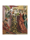Catherine Visited in Prison by Maxentius's Wife Giclee Print by Friedrich Pacher
