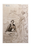 Postcard Created on Occasion of Premiere of Opera Tosca Giclee Print by Giacomo Puccini