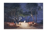 Overnight Camp on Banks of Nile, from Empress Eugenie of France's Journey in Egypt Giclee Print by Charles Theodore Frere