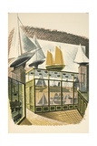 Model Ships and Trains Giclee Print by Eric Ravilious