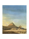 Measuring Sphinx, Detail of Pyramids of Menfis, 1798 Giclee Print by Charles-Louis Balzac