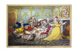 Company Shocked at a Lady Getting Up to Ring the Bell, Pub. H. Humphrey, London, 1804 Giclee Print by Brownlow North