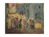 Effects of Good Government in City, Procession of Women Dancing Giclee Print by Ambrogio Lorenzetti