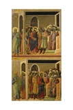 Mocking of Christ and Christ before Pilate Giclee Print by Duccio Di buoninsegna