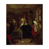 The Barber, Don Quixote's Niece, Priest and Housekeeper Purging Don Quixote's Library, Painting Giclee Print by John Michael Wright